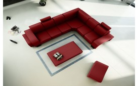 Designer Sofa EDEN 2x Hocker und Couchtisch