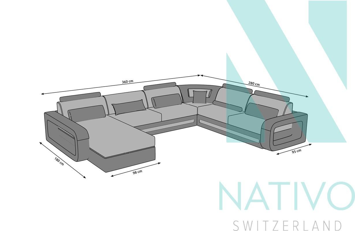 Divano offerta davos xxl nativo mobili di design for Mobili di design in offerta