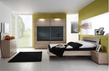 Camera da letto Bellinzona SANY BLACK mobili offerta Svizzera