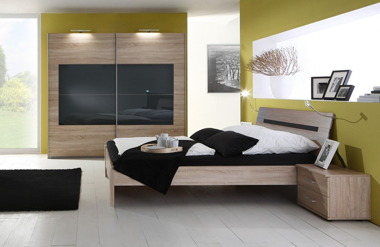 Chambre compl te sany black nativo meuble moderne for Chambre complete moderne