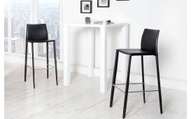 Tabouret de bar SLIM BLACK