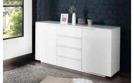 Designer Sideboard FORCA mit weißer Glasplatte