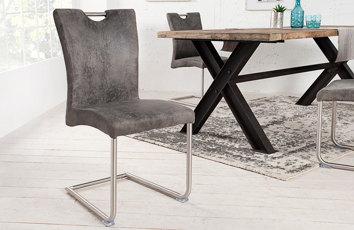 stuhl wing vintage grey designer bei nativo m bel schweiz g nstig kaufen. Black Bedroom Furniture Sets. Home Design Ideas