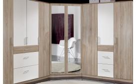 Designer Kleiderschrank KLIK mit Schrankaufsatz