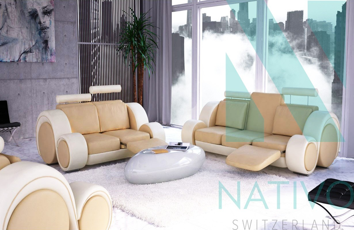 Canap design baracuda fonction relax nativo meubles for Canape nativo
