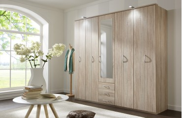 kleiderschrank mit dreht ren logos v1 von nativo m bel schweiz. Black Bedroom Furniture Sets. Home Design Ideas