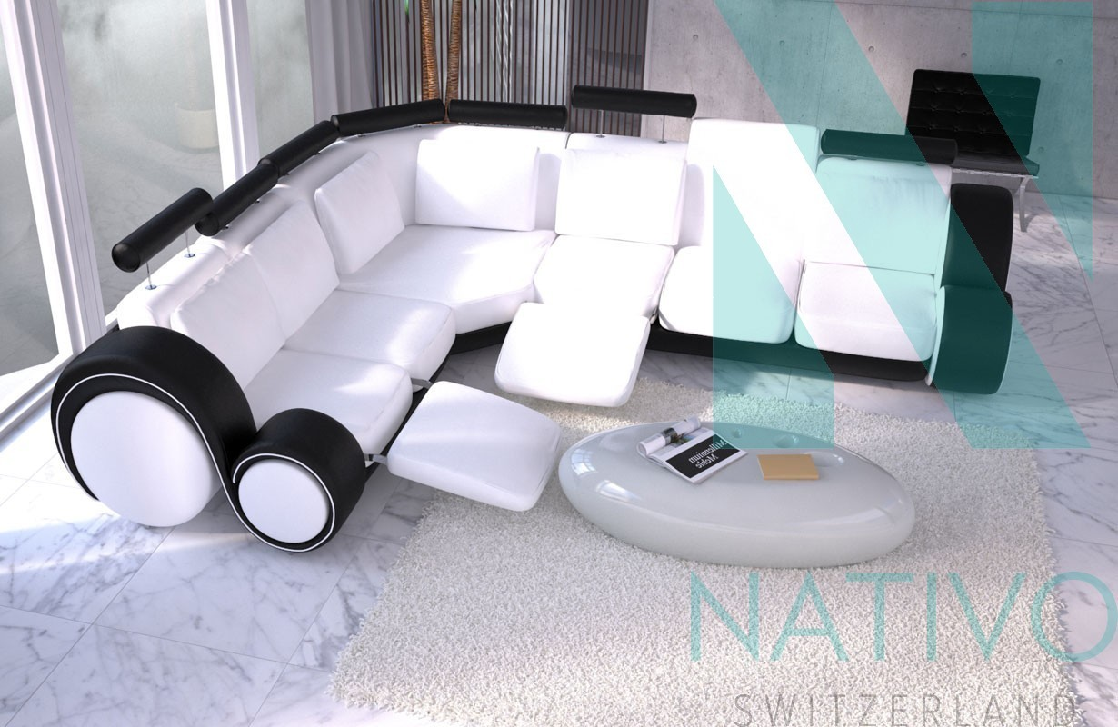 Canap design baracuda fonction relax nativo mobilier salon for Canape nativo