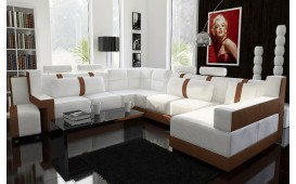 Designer Sofa ATLAS mit Hocker