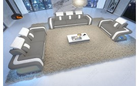 Designer Sofa SPACE 3+2+1 mit LED Beleuchtung
