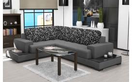 Designer Sofa ENZO mit Ablagen in Hochglanz