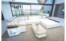 Designer Sofa CESARO XL mit LED Beleuchtung