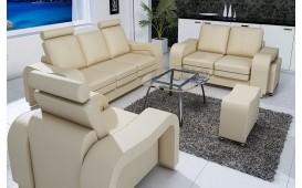 Sofa Garnitur LEA 3+2+1 mit 2 x Hocker
