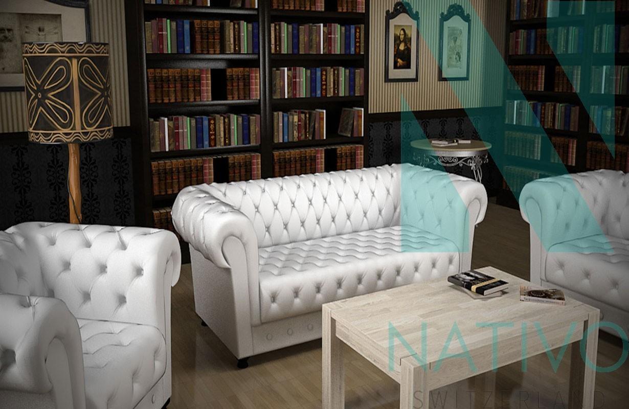 Designersofa chesterfield 3 2 1 bei nativo m bel schweiz for Couch 3 2 1 garnitur