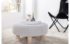 Pouf di design KNITTARD WHITE