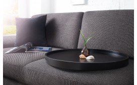 Designer Couchtisch BIG ROND BLACK