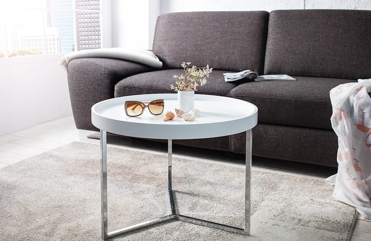 designer couchtisch big rond white bei nativo schweiz. Black Bedroom Furniture Sets. Home Design Ideas