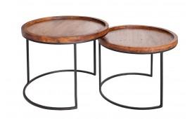 Designer Beistelltisch DARKAZ Set 2