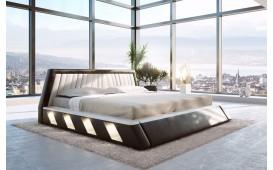 Designer Lederbett LENOX mit LED Beleuchtung