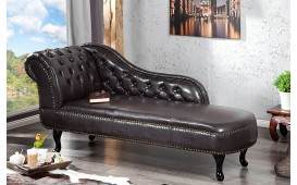 Meridienne CHESTERFIELD DARK COFFEE