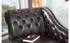 Designer Recamiere Chesterfield dark coffee