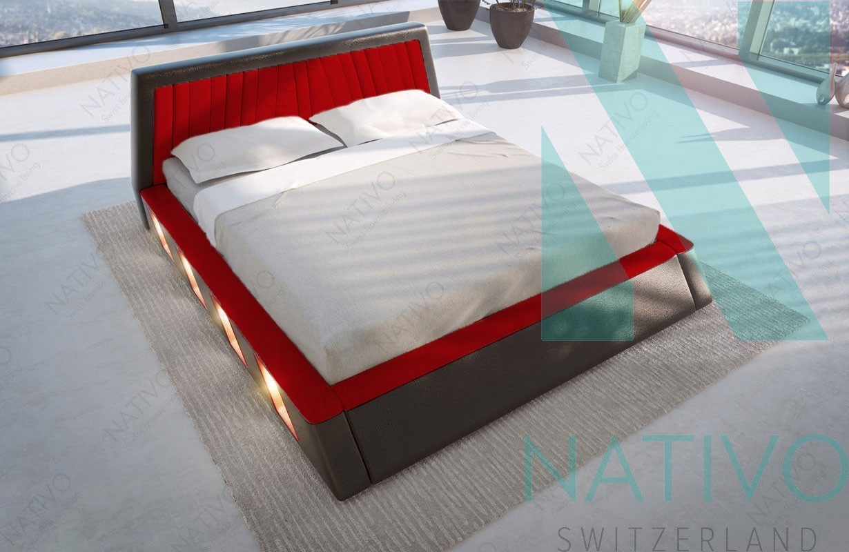 bett mit led beleuchtung bett miset in wei mit led beleuchtung. Black Bedroom Furniture Sets. Home Design Ideas
