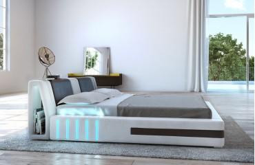 Designer Lederbett VENUM mit LED Beleuchtung