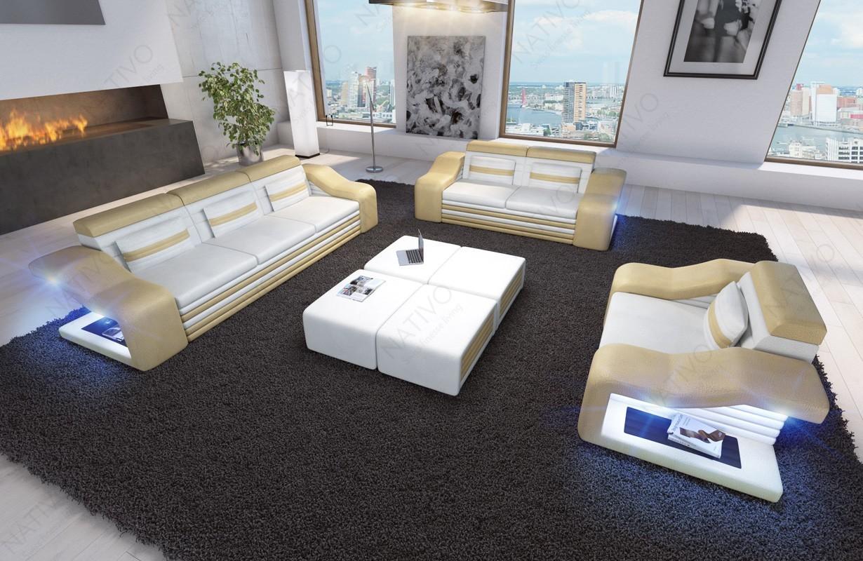 designer ledersofa mirage 3 2 1 bei nativo m bel schweiz online kaufen. Black Bedroom Furniture Sets. Home Design Ideas