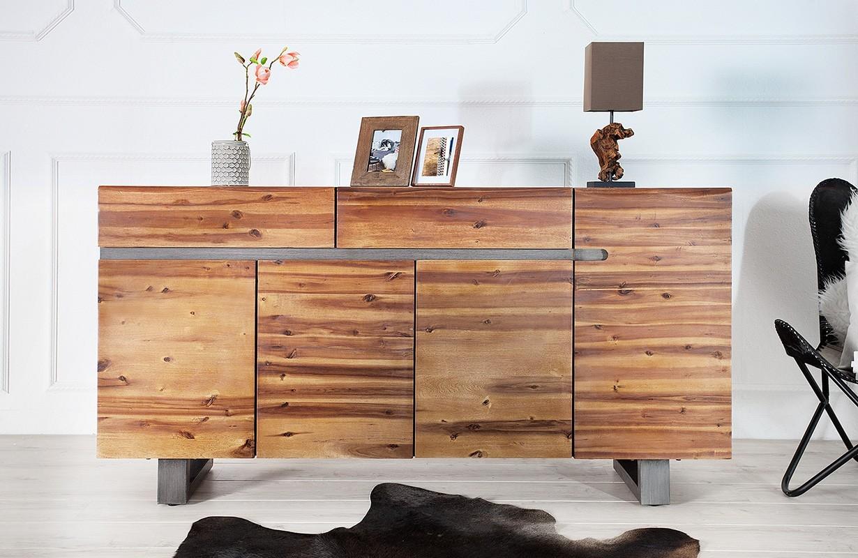Credenza Dark : Mid century modern office set desk and credenza dark walnut