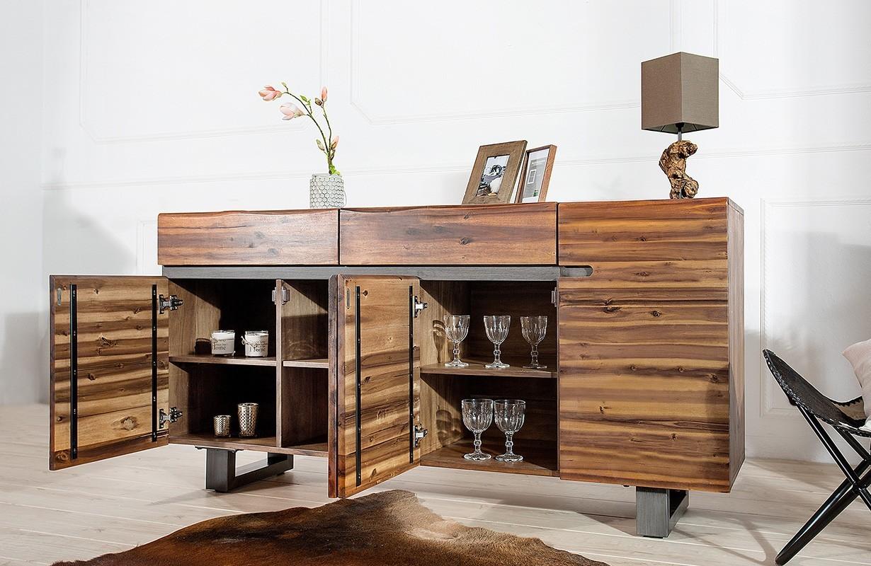 Credenza salotto forest dark nativo mobili vendita online for Mobili di design outlet