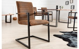 Designer Stuhl BORNEO INDUSTRIAL BROWN