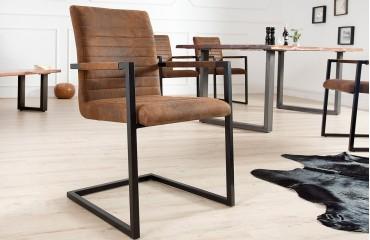 Designer Stuhl BORNEO INDUSTRIAL BROWN