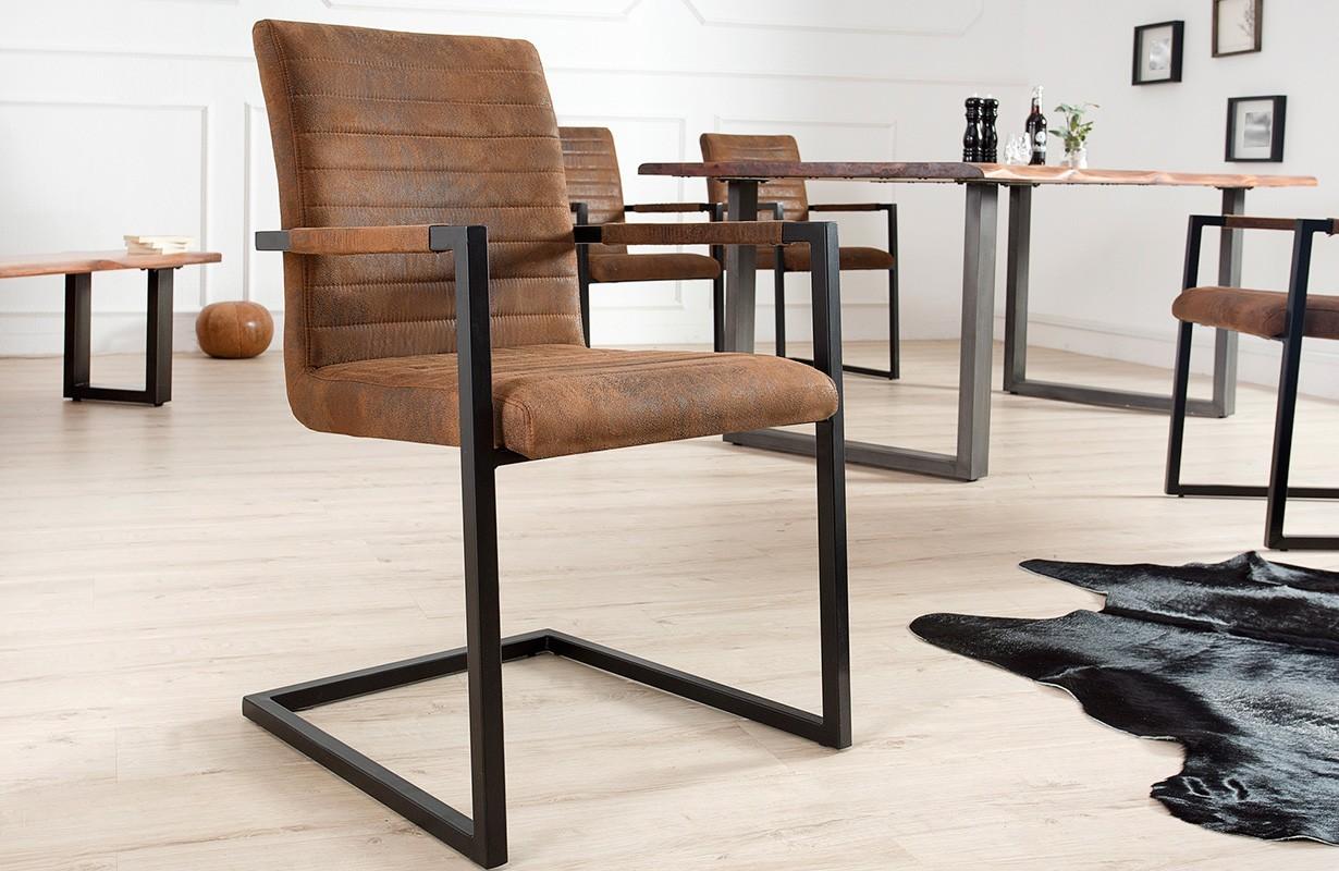 Sedie ticino borneo industrial brown nativo arredamento for Sedie industrial design