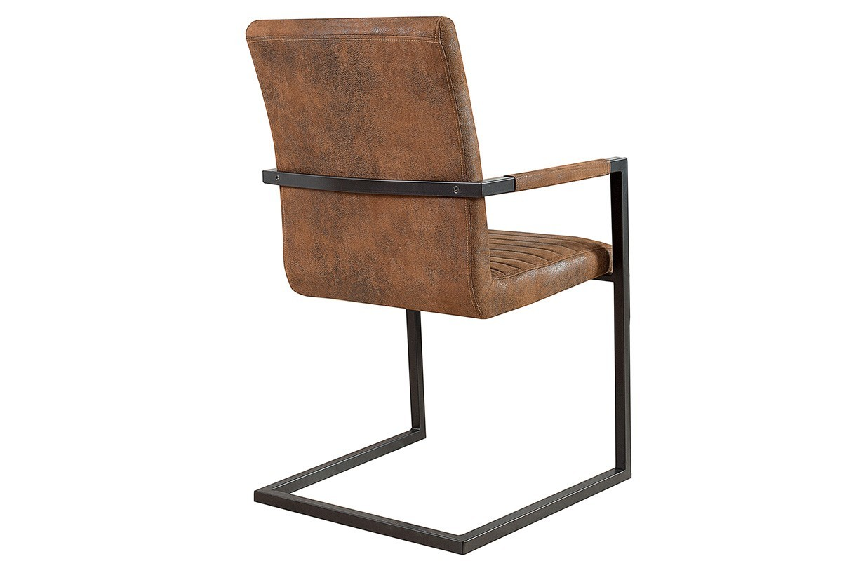 Sedie ticino borneo industrial brown nativo arredamento for Sedie industrial style