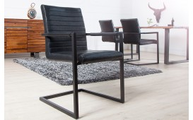 Sedia di design BORNEO INDUSTRIAL BLACK
