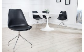 4 x Designer Stuhl WRAP BLACK