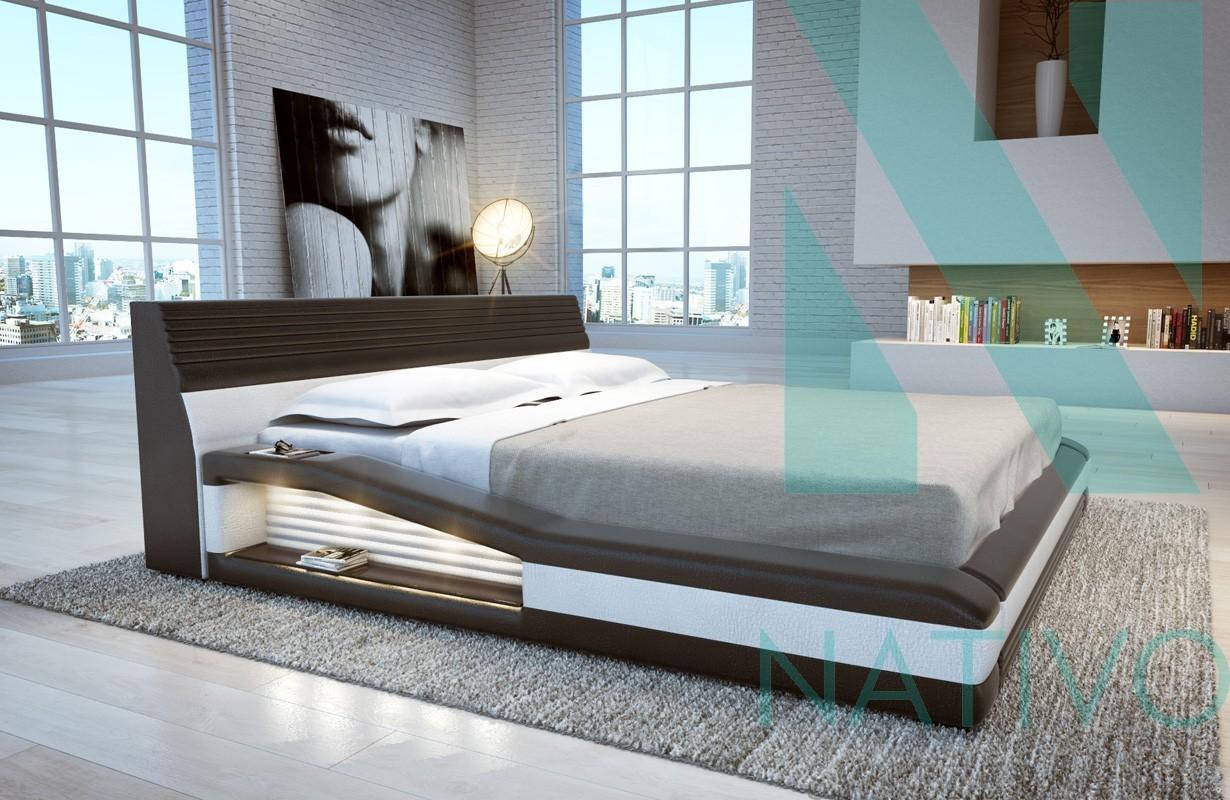 Led Camera Da Letto letto con luci led tyson nativo mobili camera da letto