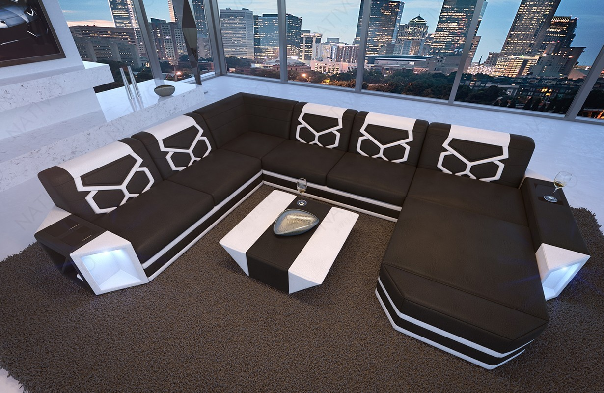 Canap aventador xxl ac clairage led nativo meuble pour for Canape xxl design