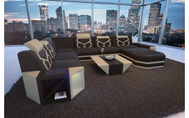 Designer Sofa AVENTADOR XXL mit LED Beleuchtung