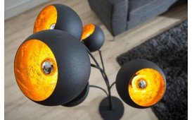 Lampadaire design STARS BLACK GOLD