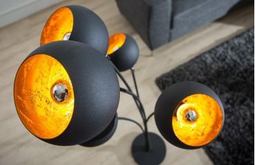 Lampadaire design STARS BLACK GOLD
