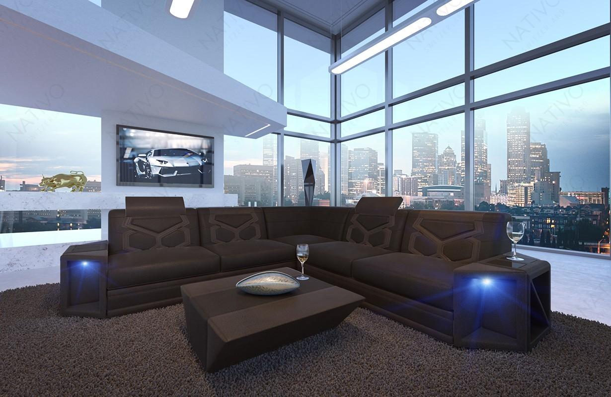 ledersofa aventador corner bei nativo m bel schweiz. Black Bedroom Furniture Sets. Home Design Ideas