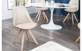 4 x Designer Stuhl SCANIA ANTIK BEIGE