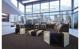 Designer Sofa AVENTADOR CORNER XL mit LED Beleuchtung