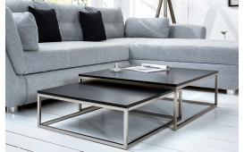 Table basse Design UNITY BLACK Set 2