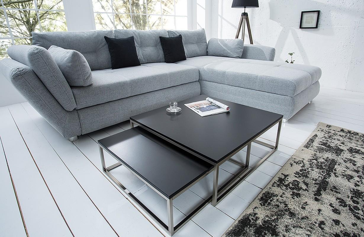 designer couchtisch unity black set 2 bei nativo schweiz. Black Bedroom Furniture Sets. Home Design Ideas