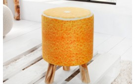 Designer Sitzhocker ORANGE