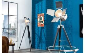 Lampadaire design CINEMA BLACK CHROME