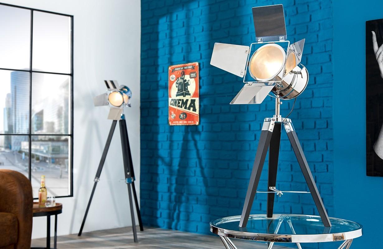 lampadaire cinema black chrome meuble suisse nativo. Black Bedroom Furniture Sets. Home Design Ideas