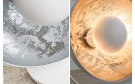 Designer Tischleuchte SESSION SILVER WHITE
