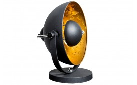 Designer Tischleuchte SESSION BLACK GOLD